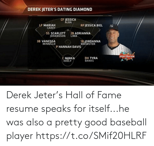 Speaks: Derek Jeter's Hall of Fame resume speaks for itself...he was also a pretty good baseball player https://t.co/SMif20HLRF