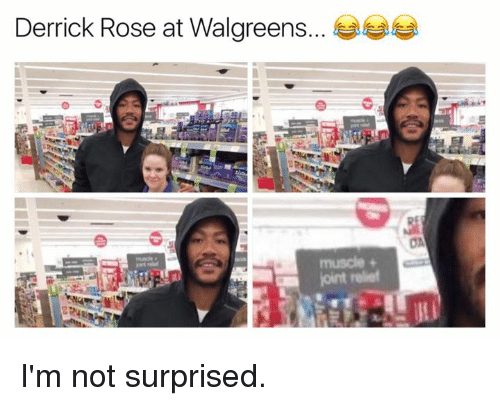 Derrick Rose, Rose, and Walgreens: Derrick Rose at Walgreens I'm not surprised.