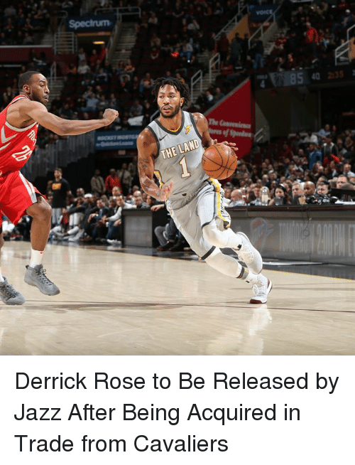 Derrick Rose, Cavaliers, and Rose: Derrick Rose to Be Released by Jazz After Being Acquired in Trade from Cavaliers