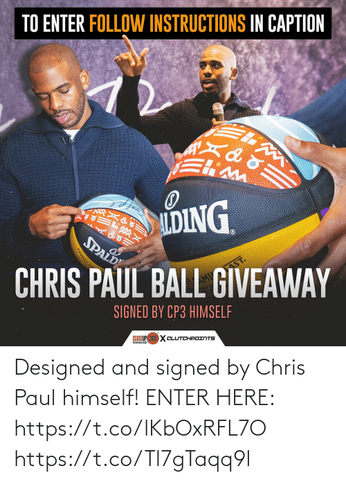 Chris Paul: Designed and signed by Chris Paul himself!  ENTER HERE: https://t.co/lKbOxRFL7O https://t.co/Tl7gTaqq9l