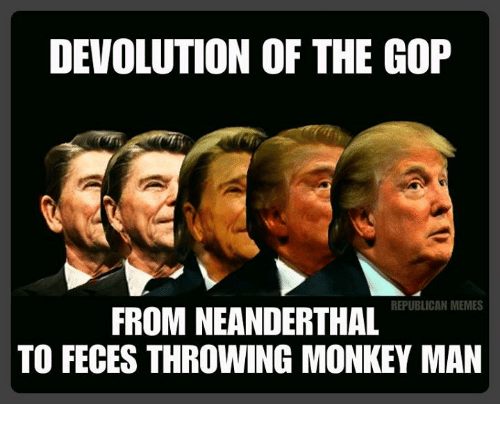 devolution of the gop republican memes from neanderthal to feces 6443831 devolution of the gop republican memes from neanderthal to feces