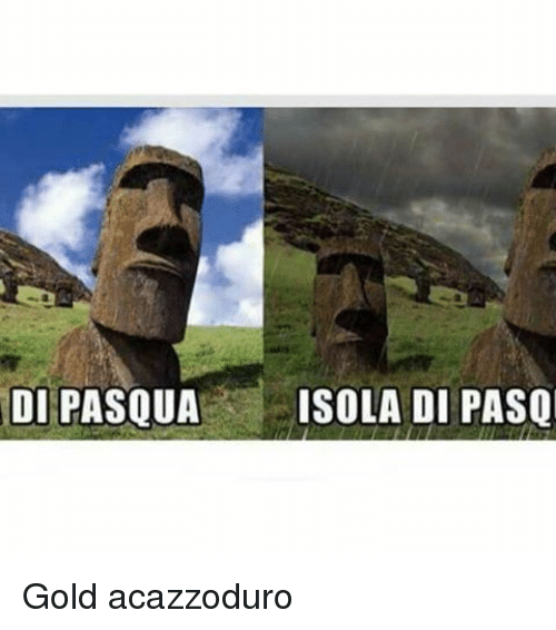 Memes, 🤖, and Gold: DI PASQUA  ISOLA DI PASQ Gold acazzoduro