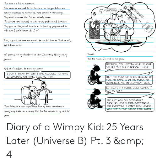 25 Years, Diary of a Wimpy Kid, and Universe: Diary of a Wimpy Kid: 25 Years Later (Universe B) Pt. 3 & 4