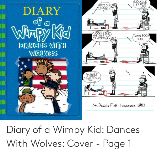 wimpy kid: Diary of a Wimpy Kid: Dances With Wolves: Cover - Page 1