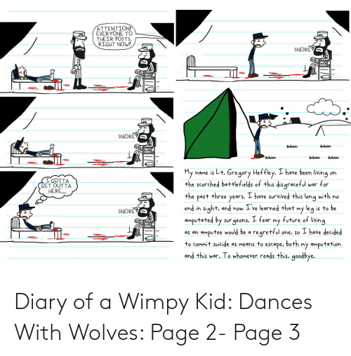 wimpy kid: Diary of a Wimpy Kid: Dances With Wolves: Page 2- Page 3