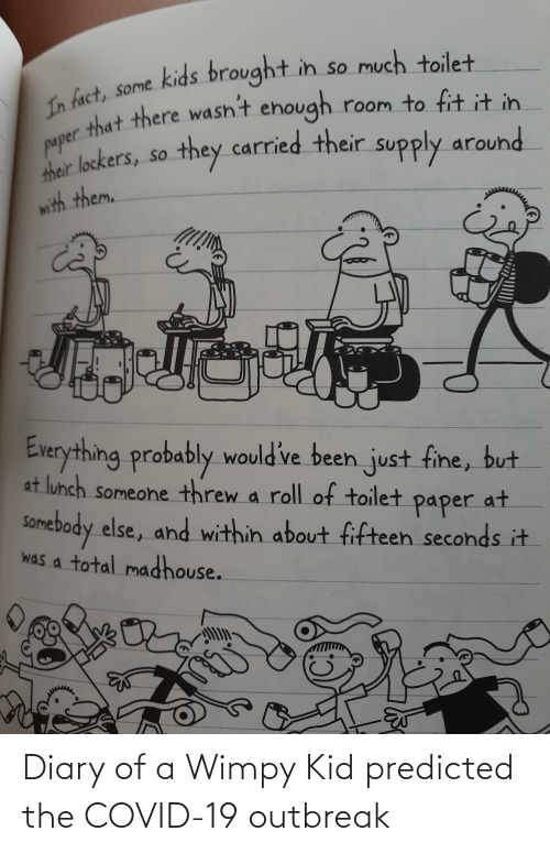 wimpy kid: Diary of a Wimpy Kid predicted the COVID-19 outbreak