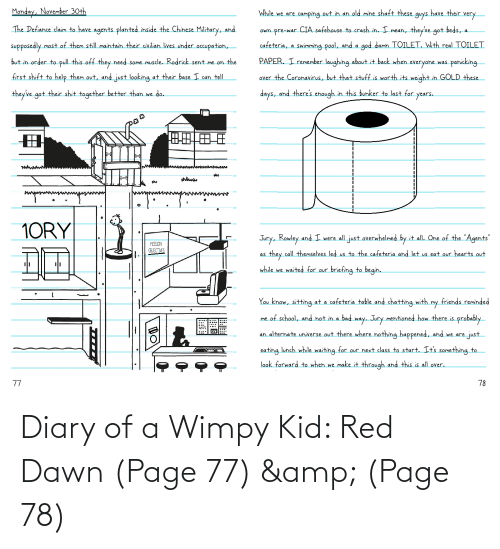 wimpy kid: Diary of a Wimpy Kid: Red Dawn (Page 77) & (Page 78)
