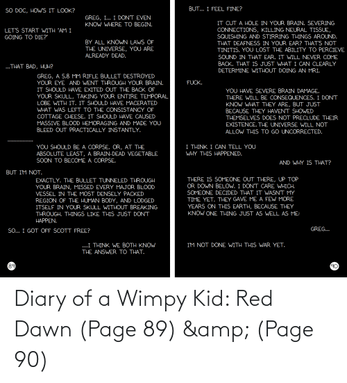 wimpy kid: Diary of a Wimpy Kid: Red Dawn (Page 89) & (Page 90)