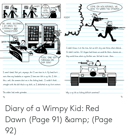 wimpy kid: Diary of a Wimpy Kid: Red Dawn (Page 91) & (Page 92)