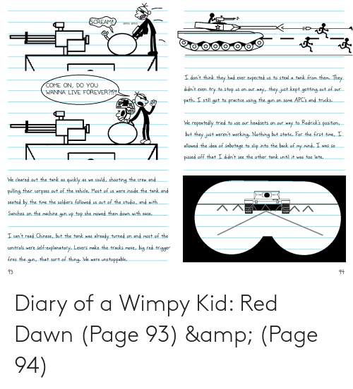 wimpy kid: Diary of a Wimpy Kid: Red Dawn (Page 93) & (Page 94)