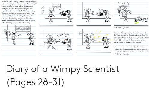 wimpy: Diary of a Wimpy Scientist (Pages 28-31)
