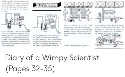 wimpy: Diary of a Wimpy Scientist (Pages 32-35)