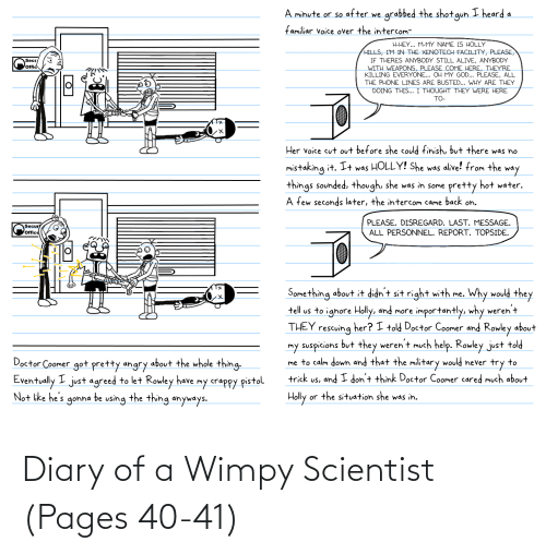 Pages, Scientist, and Wimpy: Diary of a Wimpy Scientist (Pages 40-41)