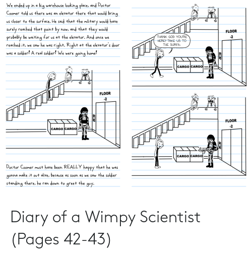 Pages, Scientist, and Wimpy: Diary of a Wimpy Scientist (Pages 42-43)