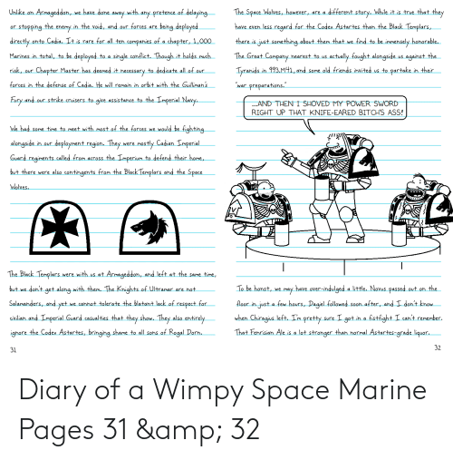 Space, Pages, and Space Marine: Diary of a Wimpy Space Marine Pages 31 & 32