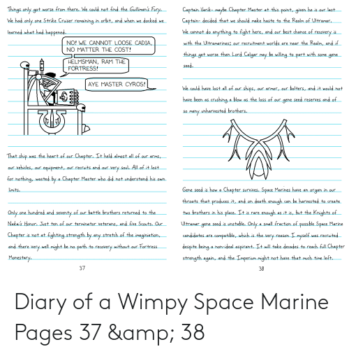 wimpy: Diary of a Wimpy Space Marine Pages 37 & 38