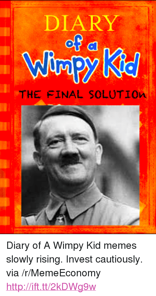 """wimpy kid: DIARY  THE FINAL SOLUTIOn <p>Diary of A Wimpy Kid memes slowly rising. Invest cautiously. via /r/MemeEconomy <a href=""""http://ift.tt/2kDWg9w"""">http://ift.tt/2kDWg9w</a></p>"""