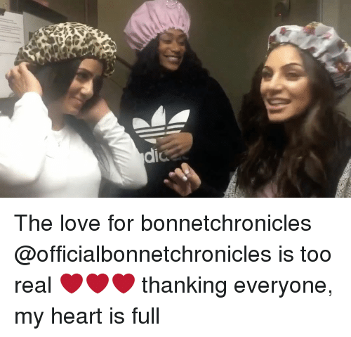 Love, Memes, and Heart: dic The love for bonnetchronicles @officialbonnetchronicles is too real ❤️❤️❤️ thanking everyone, my heart is full