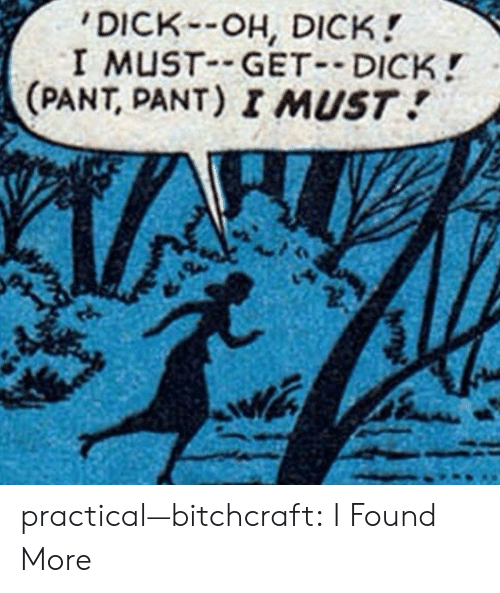practical: DICK-OH, DICK!  I MUST GET DICK!  (PANT, PANT) I MUST practical—bitchcraft:  I Found More