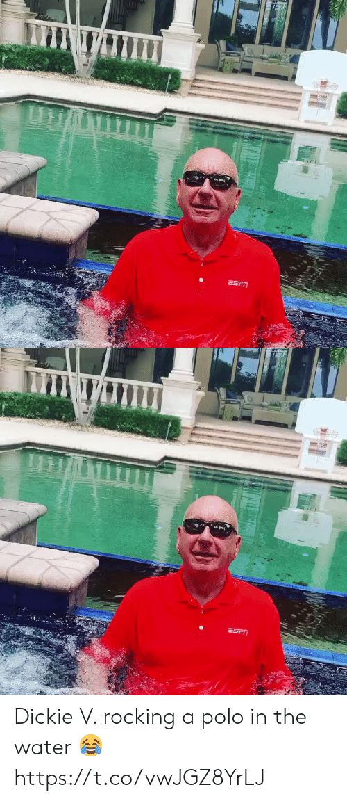 Polo: Dickie V. rocking a polo in the water 😂 https://t.co/vwJGZ8YrLJ