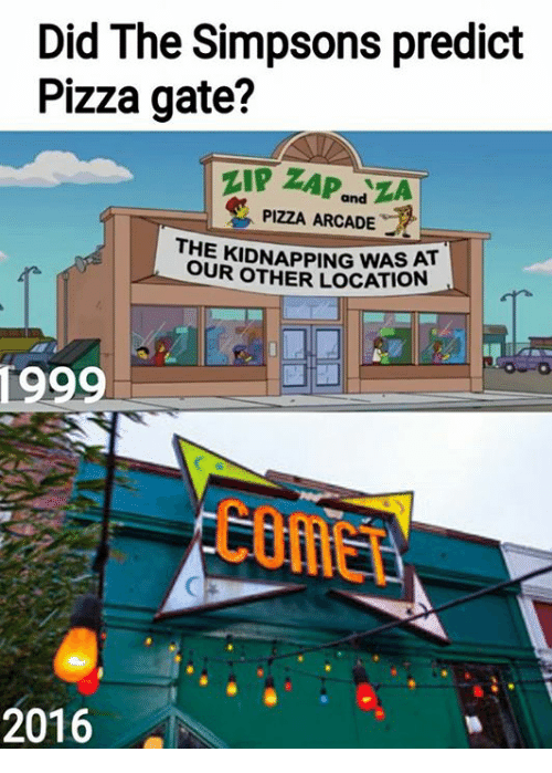 Image result for simpsons pizzagate
