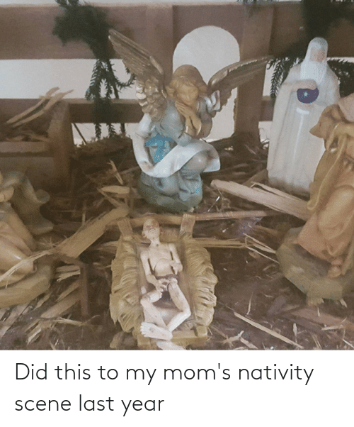nativity: Did this to my mom's nativity scene last year