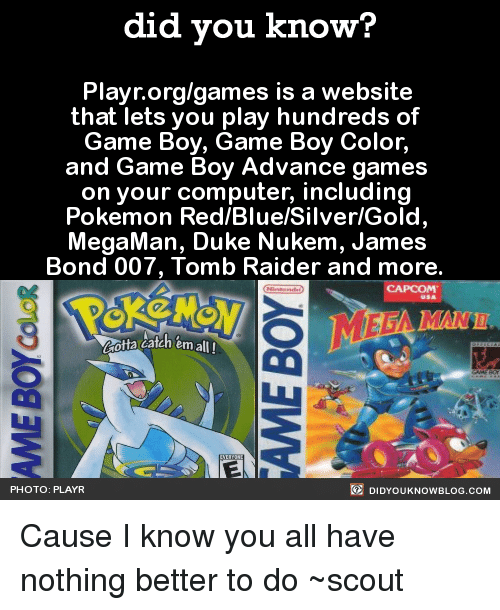 did you know playr org games is a website that lets you 15727323 🔥 25 best memes about pokemon red pokemon red memes