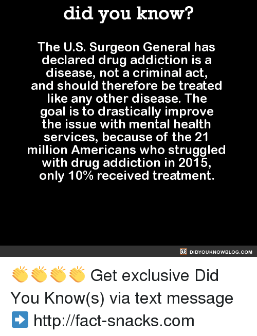 drug addicts in america should be It is the only facility of its kind run by the health providers in north america center should remain open as it gave drug addicts access to.
