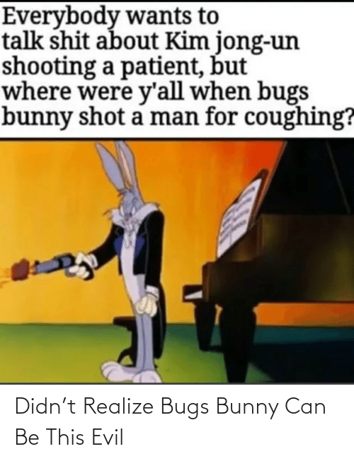 Bugs Bunny, Evil, and Can: Didn't Realize Bugs Bunny Can Be This Evil