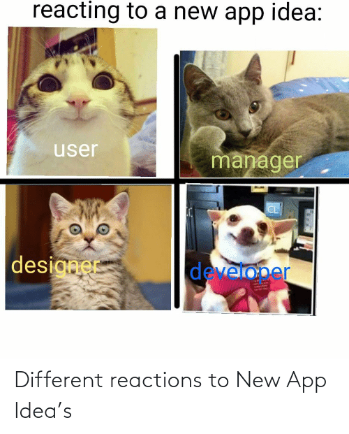 reactions: Different reactions to New App Idea's