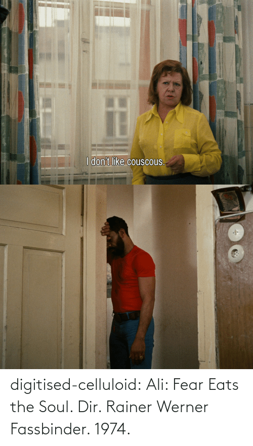 Ali: digitised-celluloid:  Ali: Fear Eats the Soul. Dir. Rainer Werner Fassbinder. 1974.