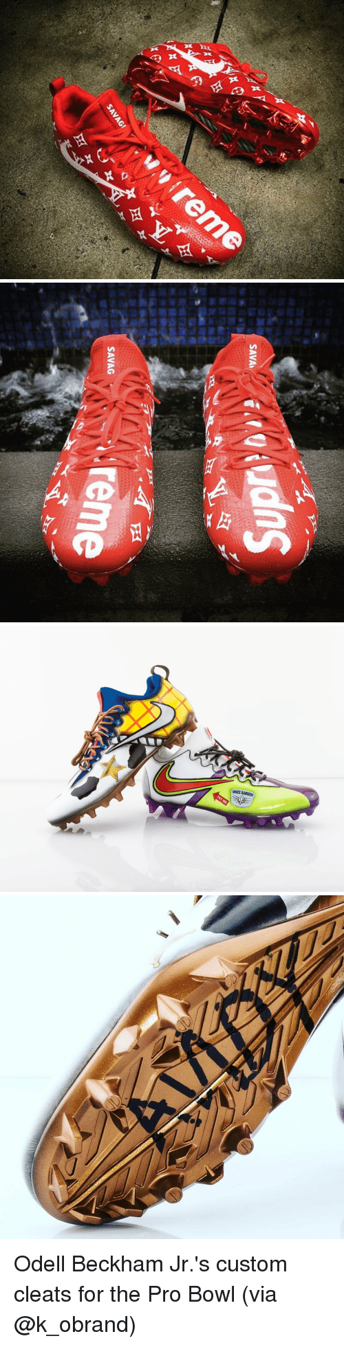Memes, Odell Beckham Jr., and Sang: din  区  x   cQiuds  SAVA  PA  SANG i reme  SAVAG  201   SPACE RANGERS Odell Beckham Jr.'s custom cleats for the Pro Bowl (via @k_obrand)