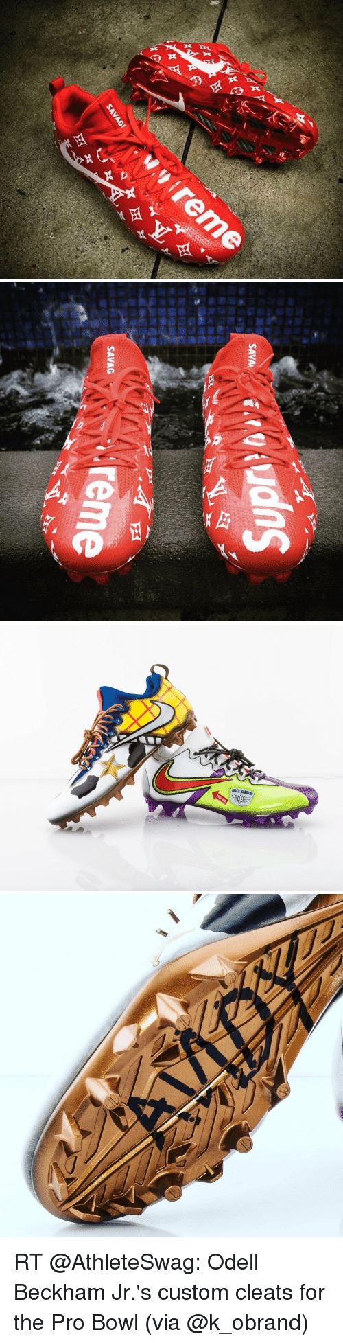 Memes, Odell Beckham Jr., and Sang: din  区  x   cQiuds  SAVA  PA  SANG i reme  SAVAG  201   SPACE RANGERS RT @AthleteSwag: Odell Beckham Jr.'s custom cleats for the Pro Bowl (via @k_obrand)
