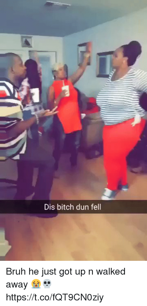 Bitch, Bruh, and Memes: Dis bitch dun fell Bruh he just got up n walked away 😭💀   https://t.co/fQT9CN0ziy