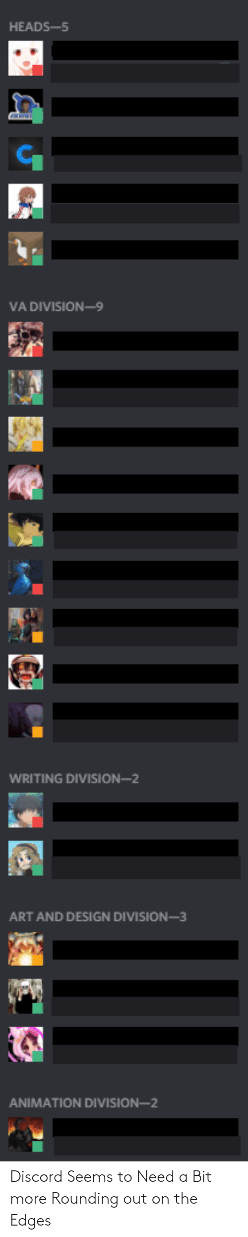 edges: Discord Seems to Need a Bit more Rounding out on the Edges