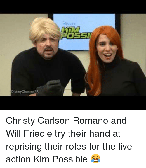 Kim Possible: DisneyChannelPR <p>Christy Carlson Romano and Will Friedle try their hand at reprising their roles for the live action Kim Possible 😂</p>