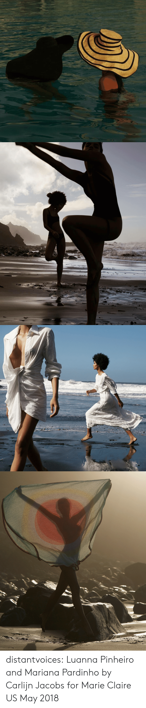 Mariana: distantvoices: Luanna Pinheiro and Mariana Pardinho by Carlijn Jacobs for Marie Claire US May 2018