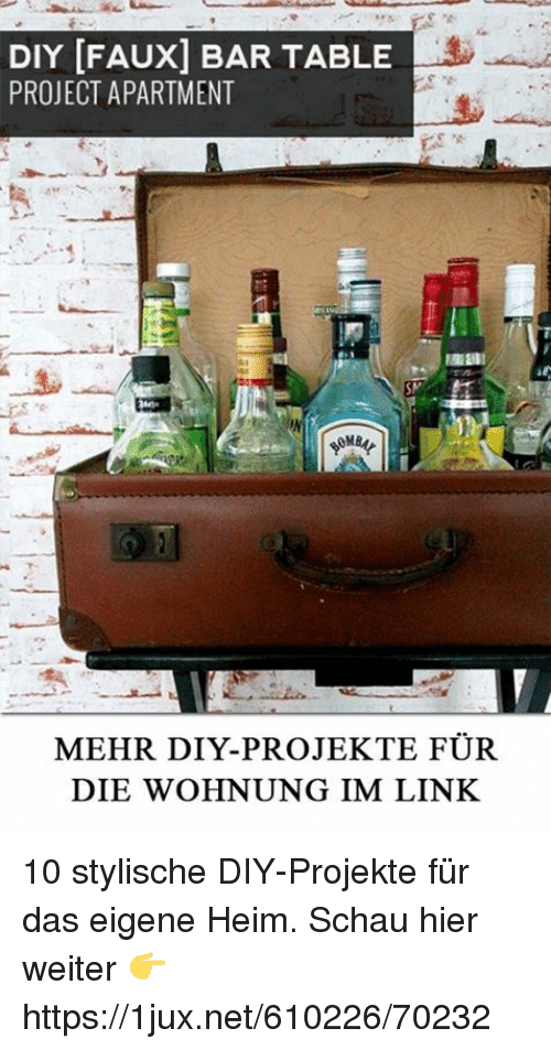diy faux bar table project apartment mehr diy projekte f r. Black Bedroom Furniture Sets. Home Design Ideas