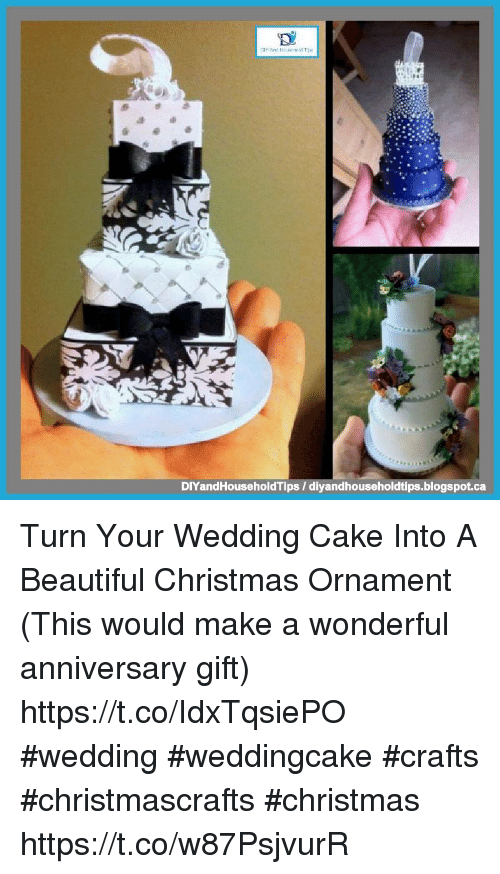picture of wedding cake made into ornament diyandhouseholdtips diyandhouseholdtipsblogspotca turn 18367