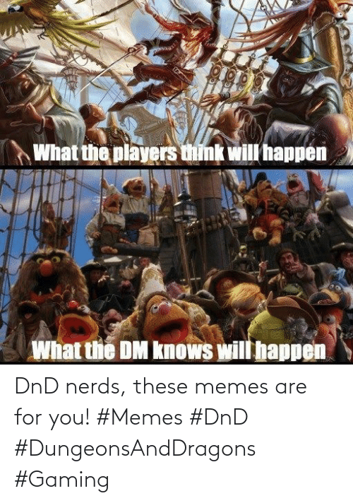 DnD: DnD nerds, these memes are for you! #Memes #DnD #DungeonsAndDragons #Gaming