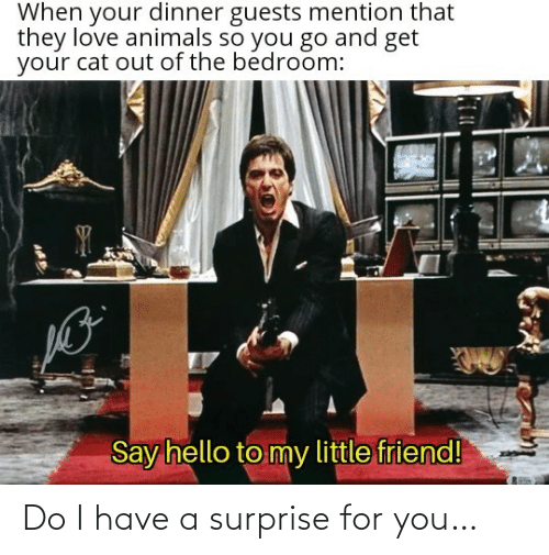I Have A: Do I have a surprise for you…