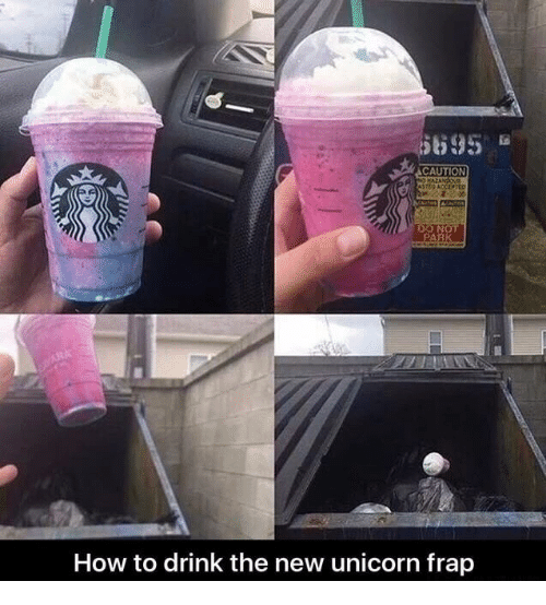Unicorn Frap: DO NOT  RK  How to drink the new unicorn frap