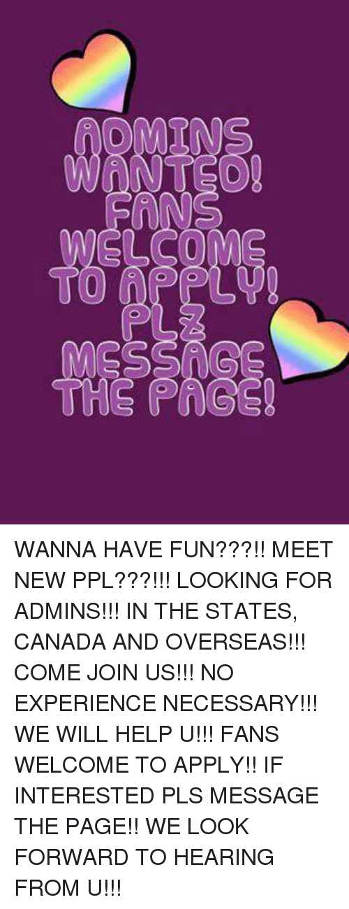 meet new people and have fun