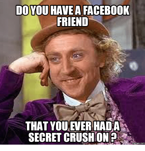 Thats What Friends Are For Meme: DO YOU HAVE A FACEBOOK  FRIEND  THAT YOU EVERHADA  SECRET CRUSHION?  COM