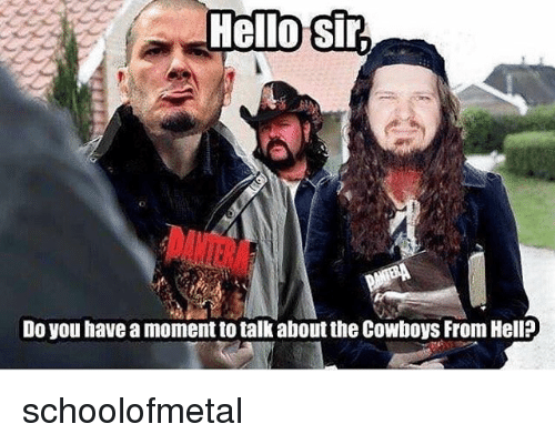 Dallas Cowboys, Memes, and Hell: Do you have a moment to talk about the Cowboys From Hell? schoolofmetal