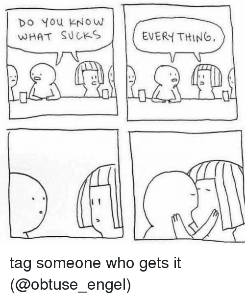 What Suck: Do you know  WHAT SUCKS  EVER THIN  I I tag someone who gets it (@obtuse_engel)