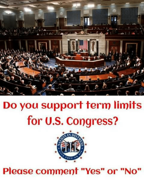 """Memes, 🤖, and Yes: Do you support term limits  for U.S. Congress?  Please comment """"Yes"""" or """"No"""""""