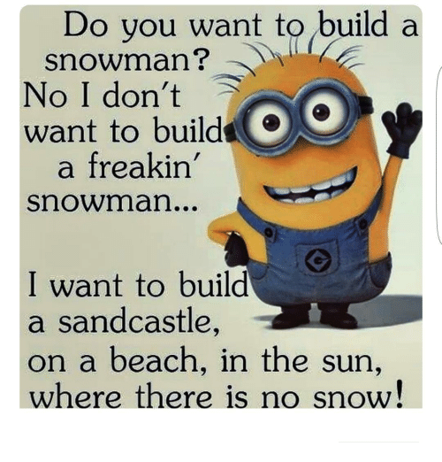 Do you want to build a e snowman no i don 39 t want to bui a for I want to make a snowman