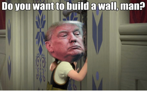 do you want to build a wall man dank meme on sizzle