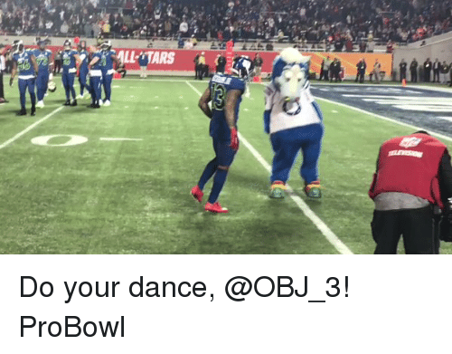 Memes, Do Your Dance, and 🤖: Do your dance, @OBJ_3! ProBowl